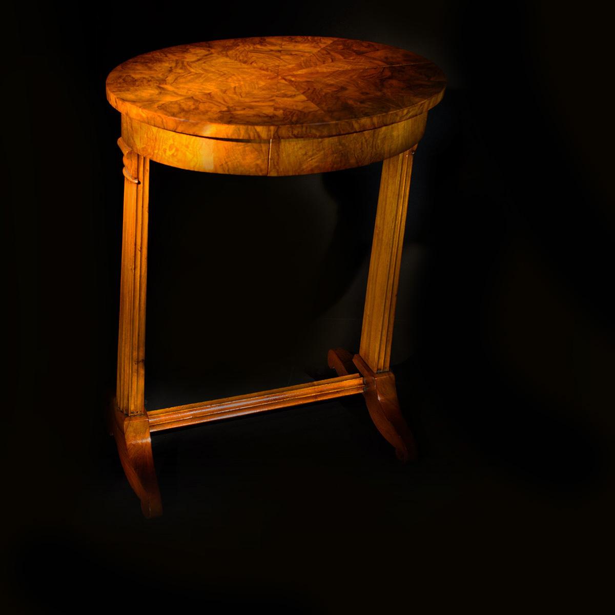 tavolino biedermeier da lavoro Bernardi