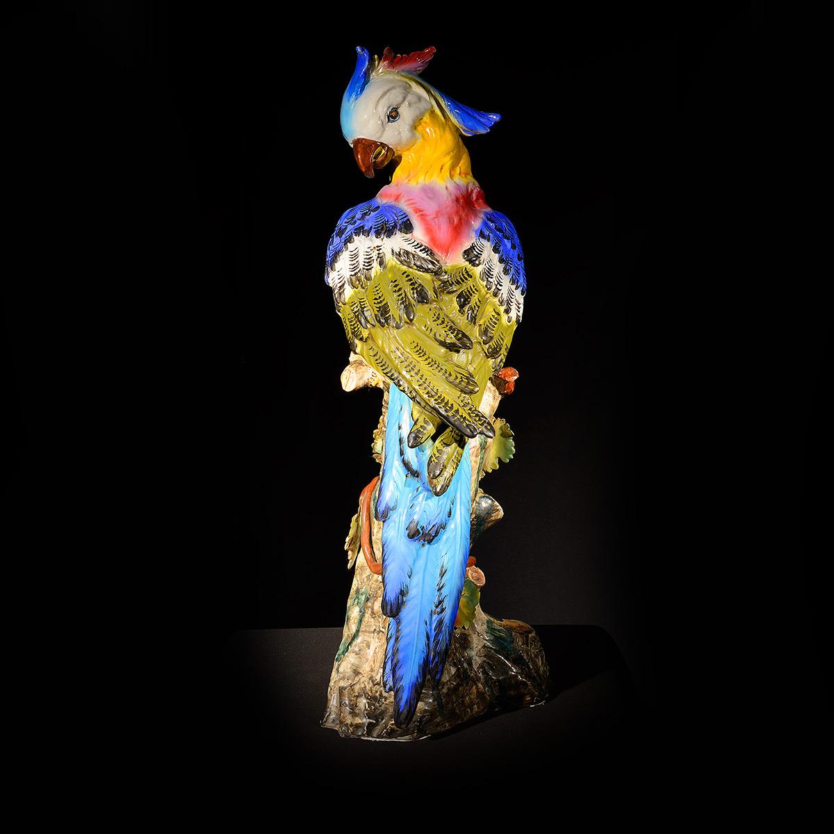 pappagallo in ceramica