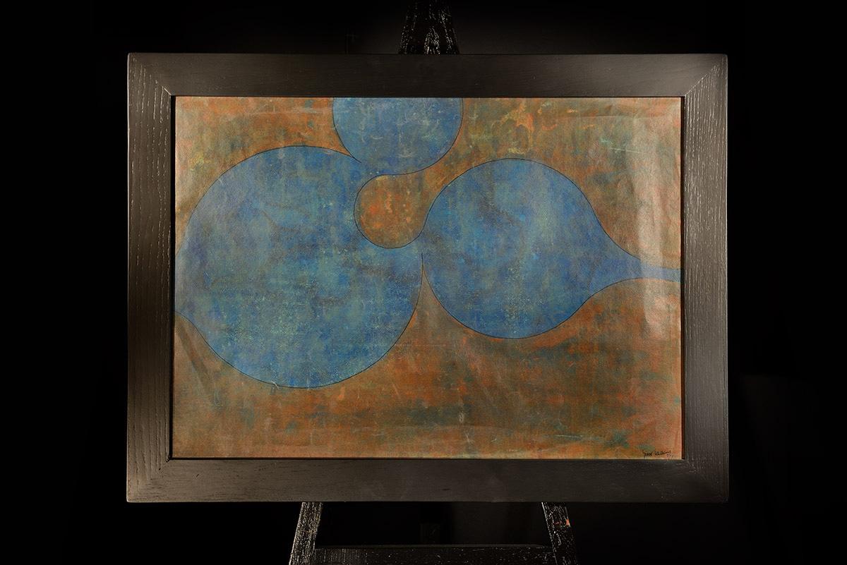 Dipinto pastello Hotckins 1973 Bernardi