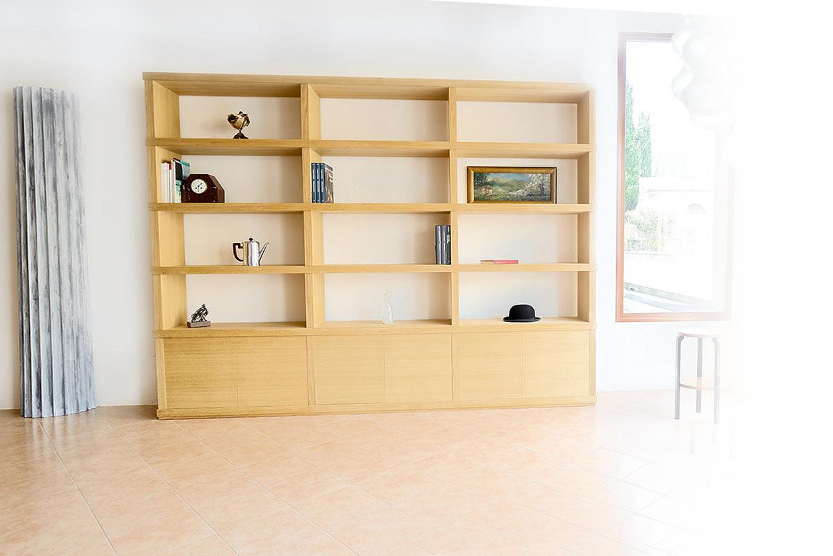 libreria in rovere Bernardi